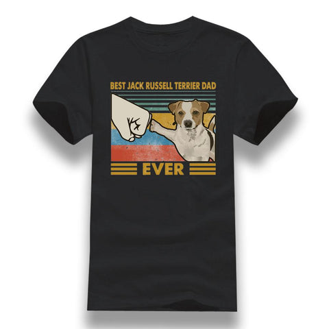 T-Shirt Jack Russell<br>Dad Ever Check T-Shirt Boutique Jack Russell Noir XXXL