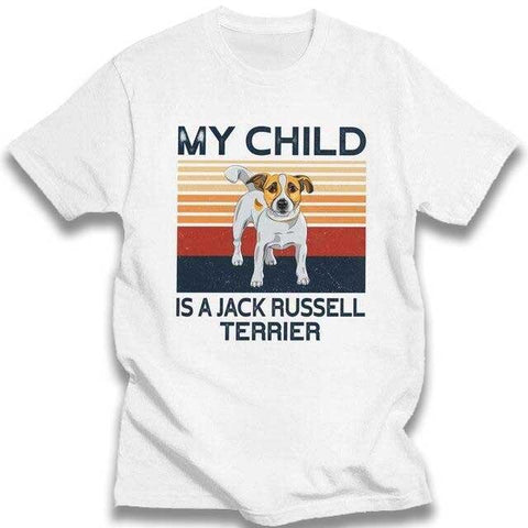 T-Shirt Jack Russell<br>My Child is a Jack T-Shirt Boutique Jack Russell Blanc XXXL