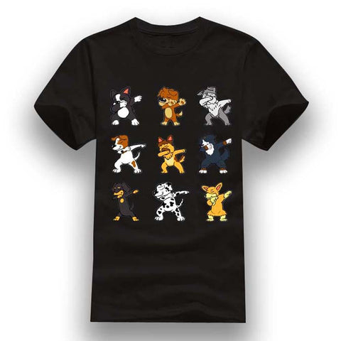 T-Shirt Jack Russel<br>Group Dab Dance T-Shirt Boutique Jack Russell Noir XXXL