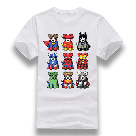 T-Shirts Jack Russell<br>Super Dogs Héros T-Shirt Boutique Jack Russell Blanc XS