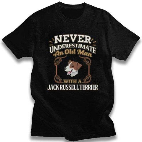 T-shirt Jack Russell<br>Never Under Estimate T-Shirt Boutique Jack Russell Noir S