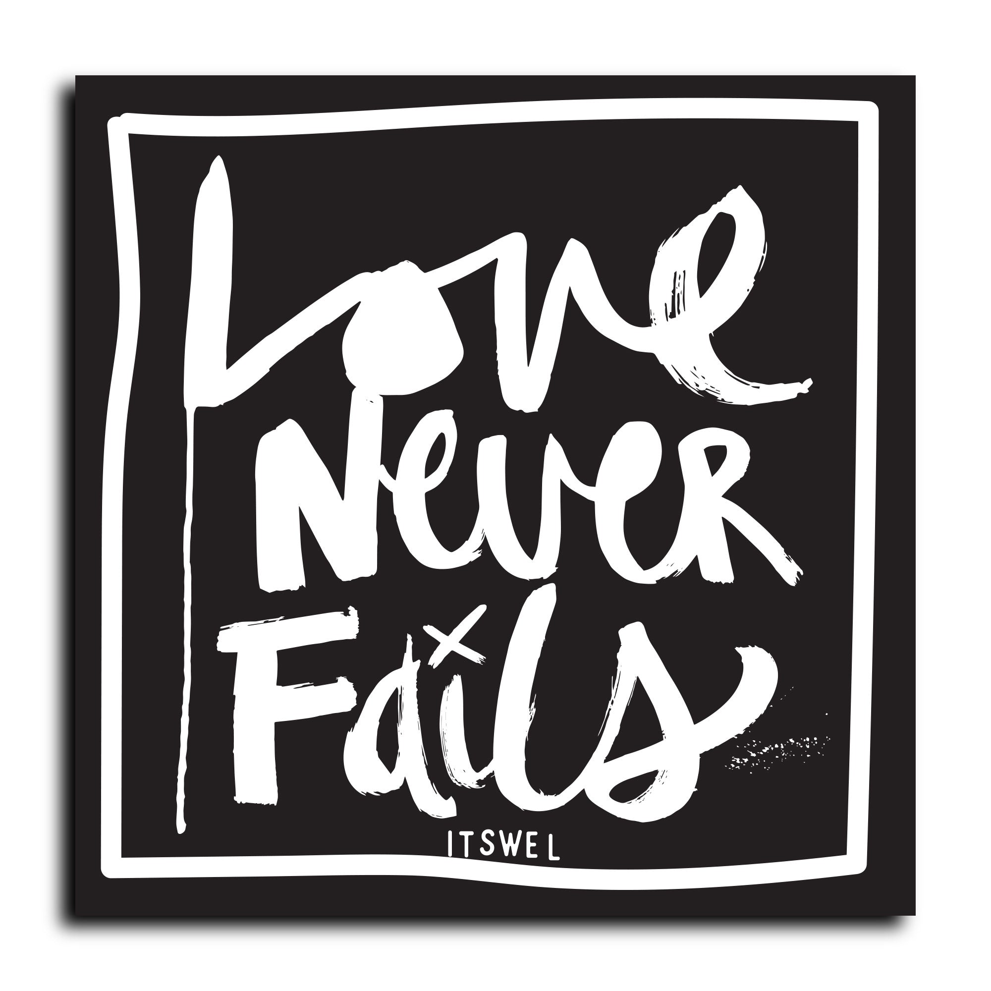 Love Never Fails Sticker
