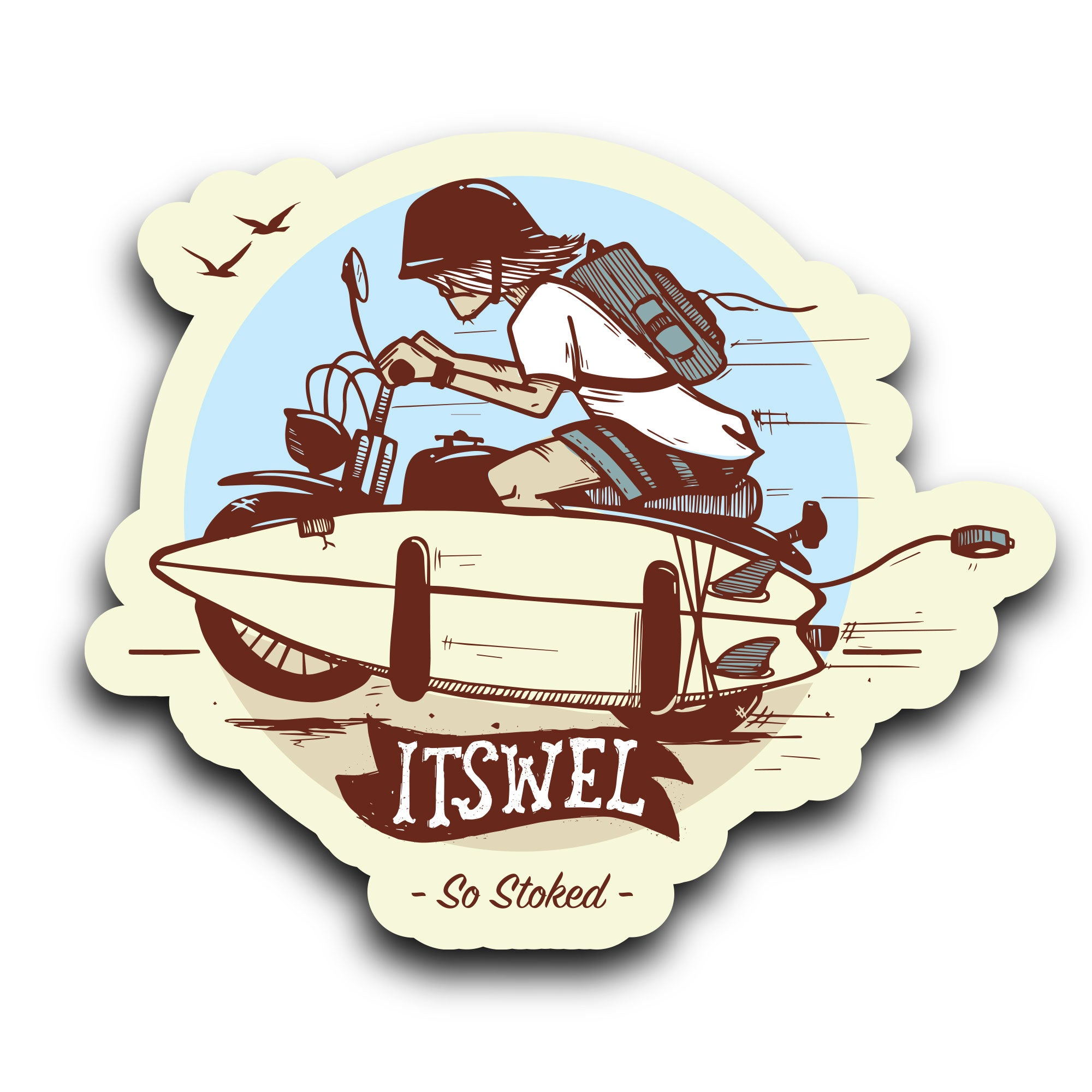 Moped Gang Sticker