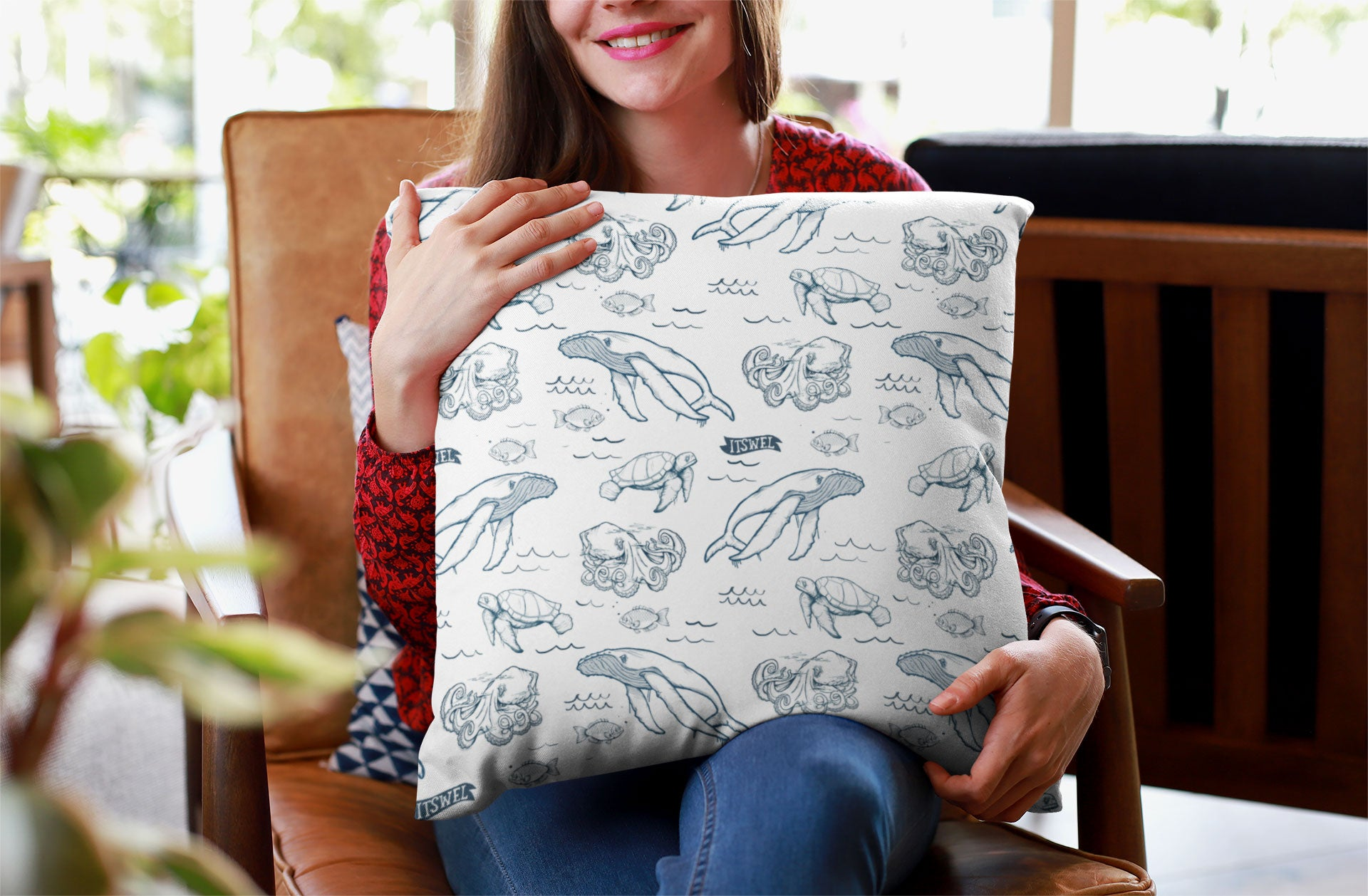 the SEA LIFE Throw Pillow