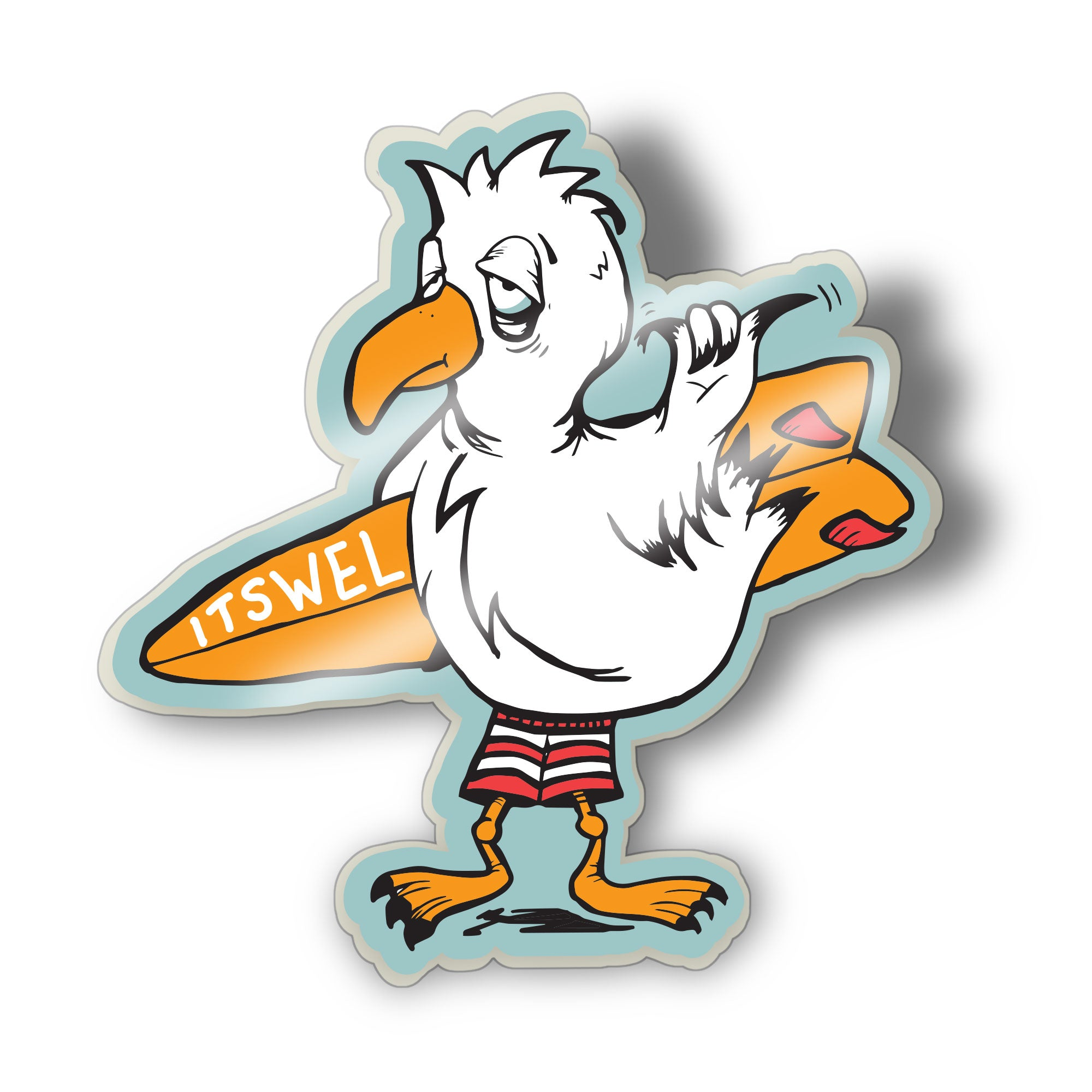 Seagull Surf Pin