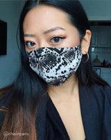 The Snake Print Face Mask