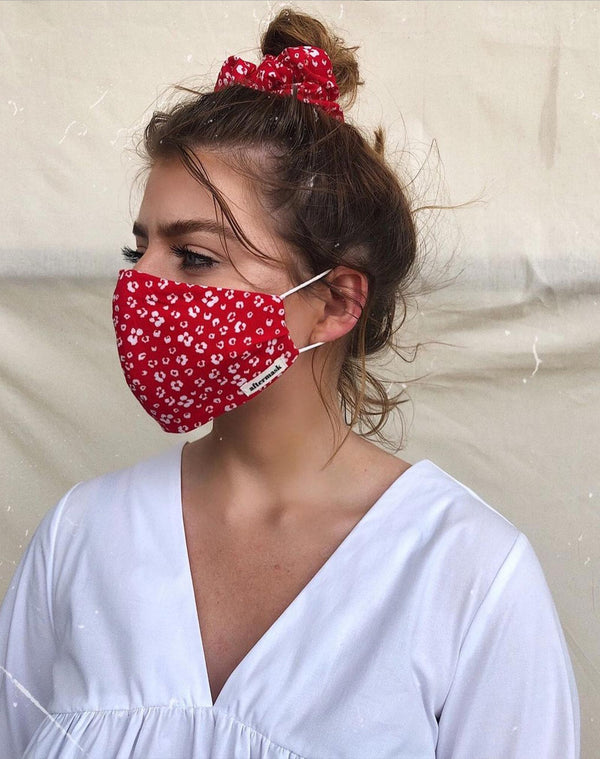 The Red Floral Face Mask