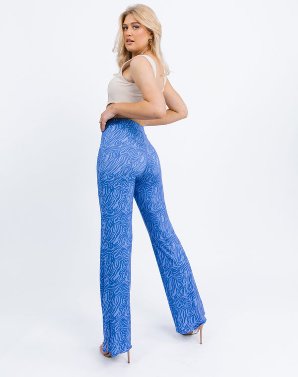 Ariana Trousers in blue Zebra