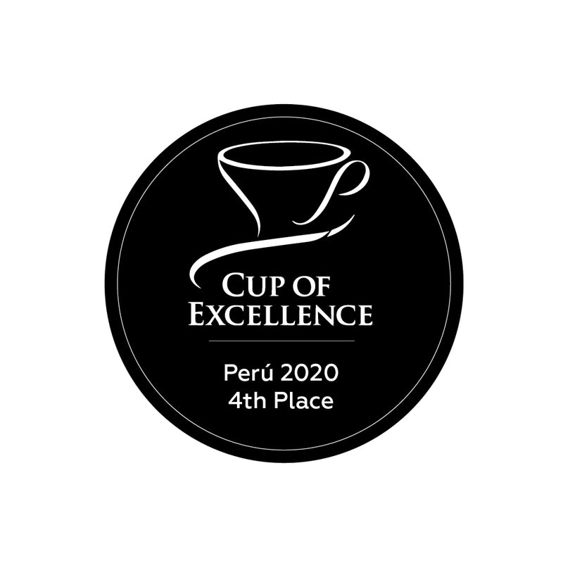 Cup of Excellence label | Peru 2020 4th Place