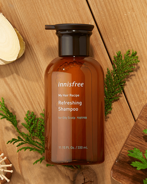 My Hair Recipe Refreshing Shampoo [For Oily Scalp] 330ml - innisfree Malaysia Official Shop