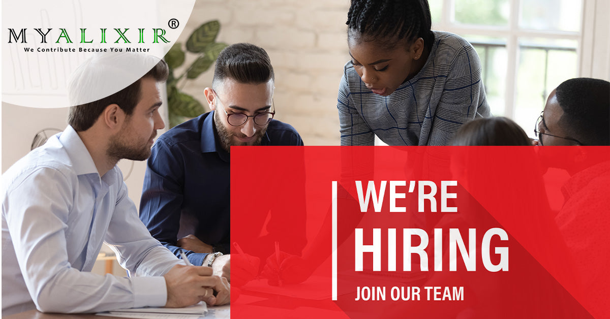 MYALIXIR vegan supplements - We are hiring - career - diverse professionals meeting and discussing