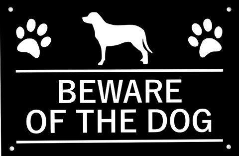 Beware of the Dog / Beware of the Dogs, Sign, Warning - Plastic Sign, Waterproof. Multiple Colours and Languages