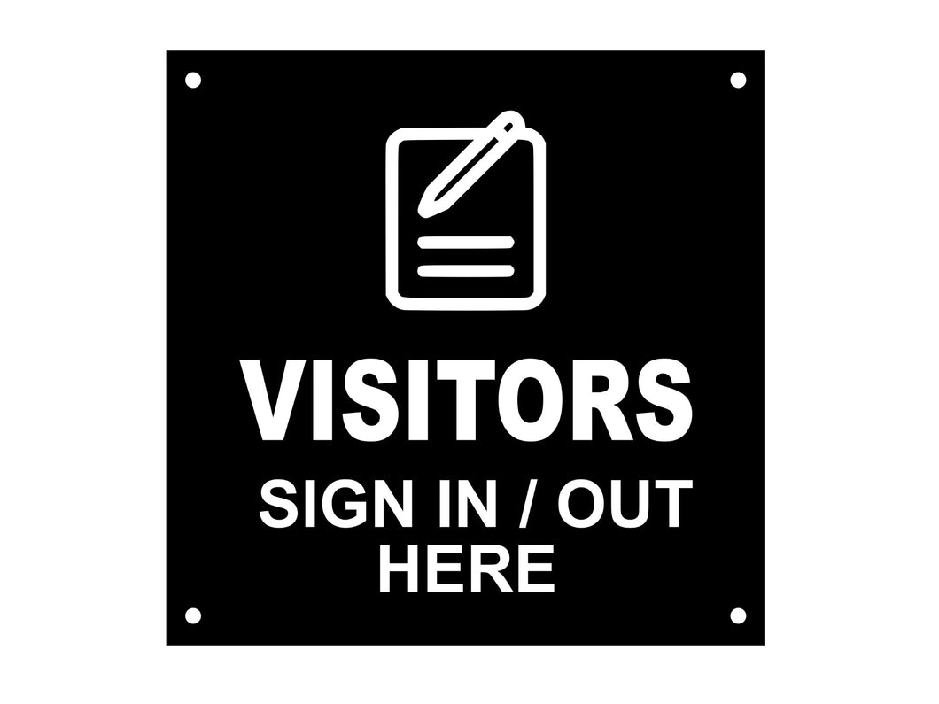 VISITORS Sign In / Out Here, Entrance, Lobby, Sign