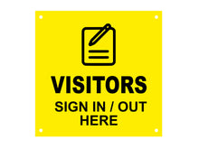 Load image into Gallery viewer, VISITORS Sign In / Out Here, Entrance, Lobby, Sign