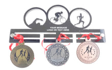 Load image into Gallery viewer, Personalised, Triathlon, Tri, Mens - Acrylic Medal Holder, Hanger, Display