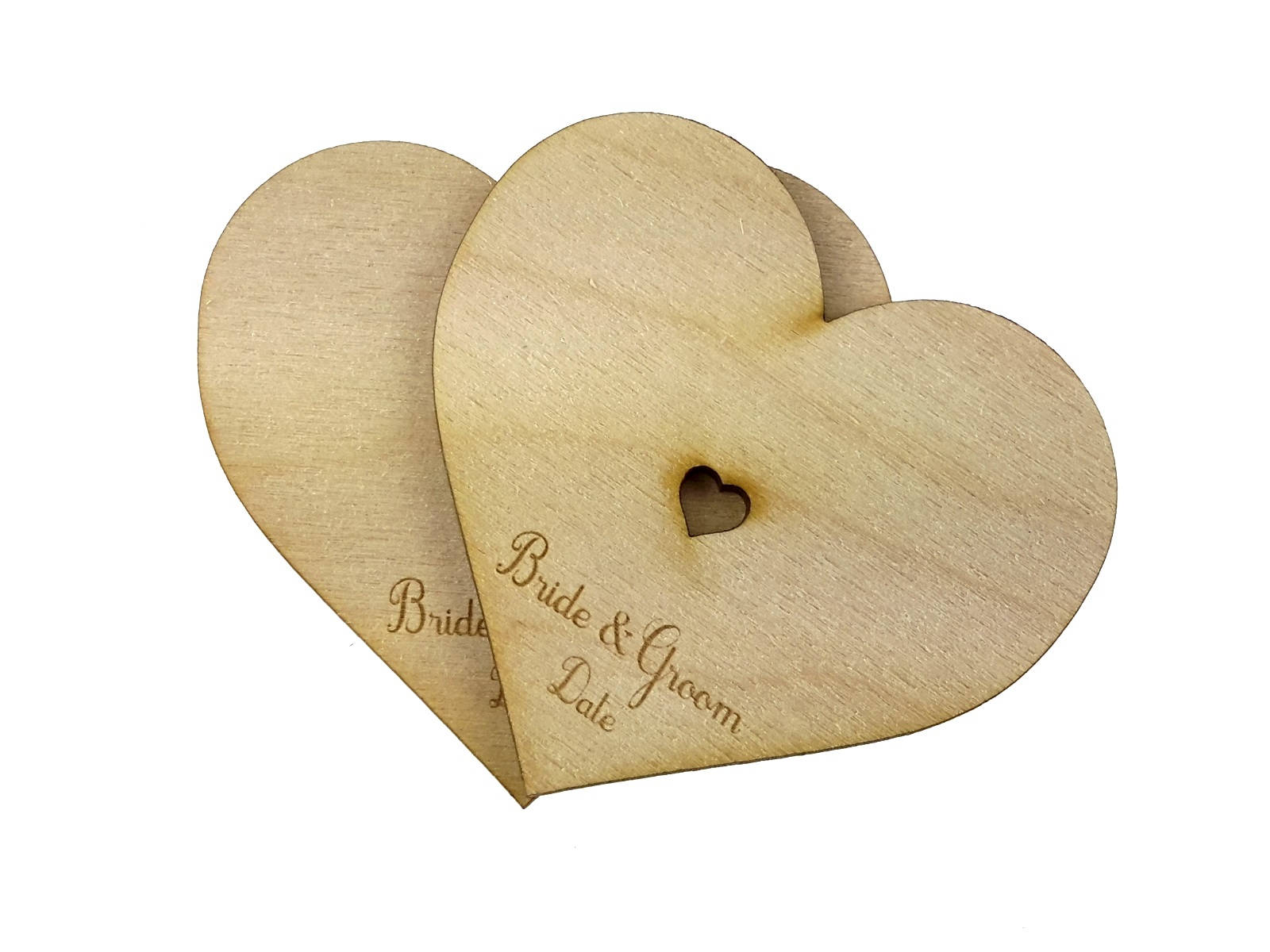 Wooden, Wedding, Guest Book, Alternative - Supplied with 20 Personalised Hearts Perfect Gift and Keepsake