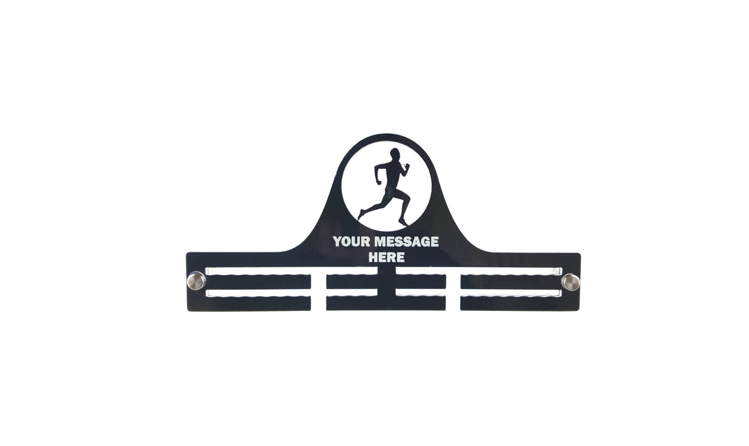 Personalised, Men's, Running, Marathon, Race, Acrylic, Medal Holder, Hanger, Display