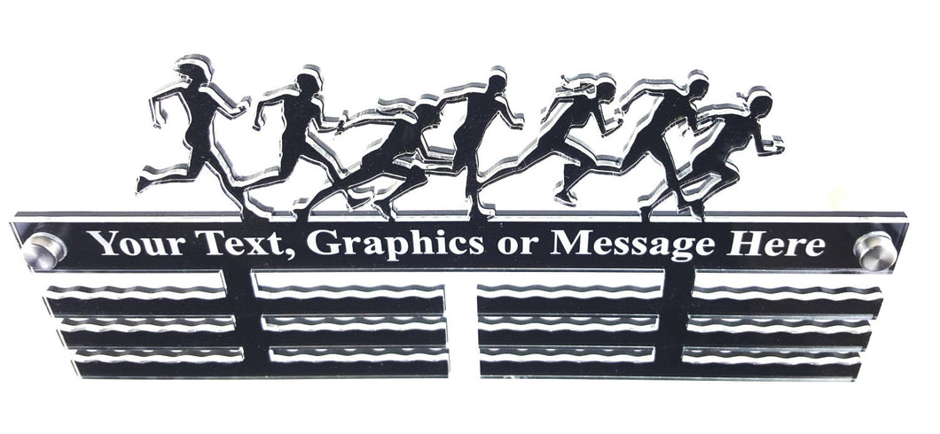 Personalised, Running, Marathon, Race - Acrylic Medal Holder, Hanger, Display