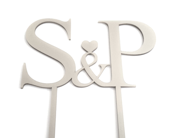Wedding Cake Topper - Personalised with Initials, Names, Surname & Theme