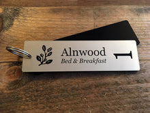 Load image into Gallery viewer, Personalised Key Fobs - GOLD Rectangle - Ideal for Hotels, Bed and Breakfast, Guest Houses