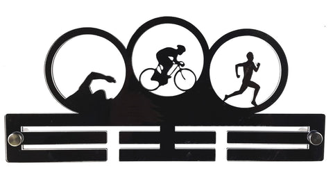 Tri Triathlon Triathlete  Mens - Acrylic Medal Holder, Hanger, Display