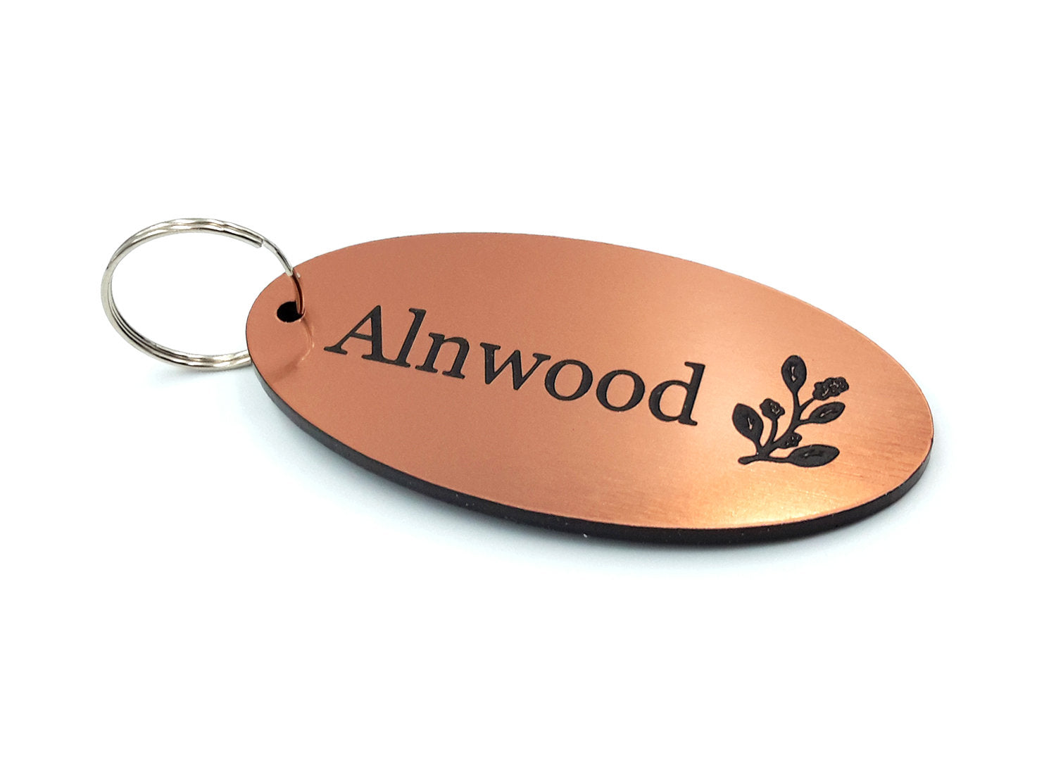 Personalised Key Fobs - COPPER OVAL - Ideal for Hotels, Bed and Breakfast, Guest Houses