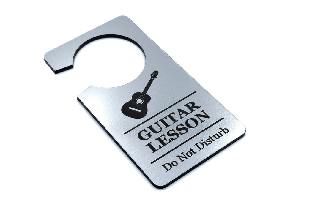 Guitar Lesson, Do Not Disturb Sign (Silver)