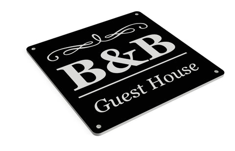 B&B Sign in A Choice of Colours, Large 145 mm Size. Indoor and Outdoor Use Tough and Durable 3 mm UV Resistant Acrylic