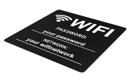 Personalised WiFi Sign - High Visibility Customisable Sign with Your Network Name and Password
