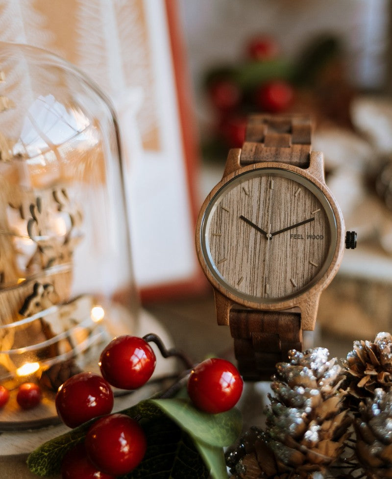 Reloj de madera Dark Walnut 42 mm