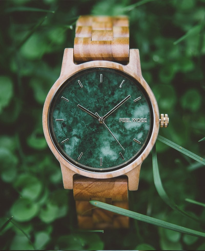 Reloj de madera Olive and Marble 42 mm