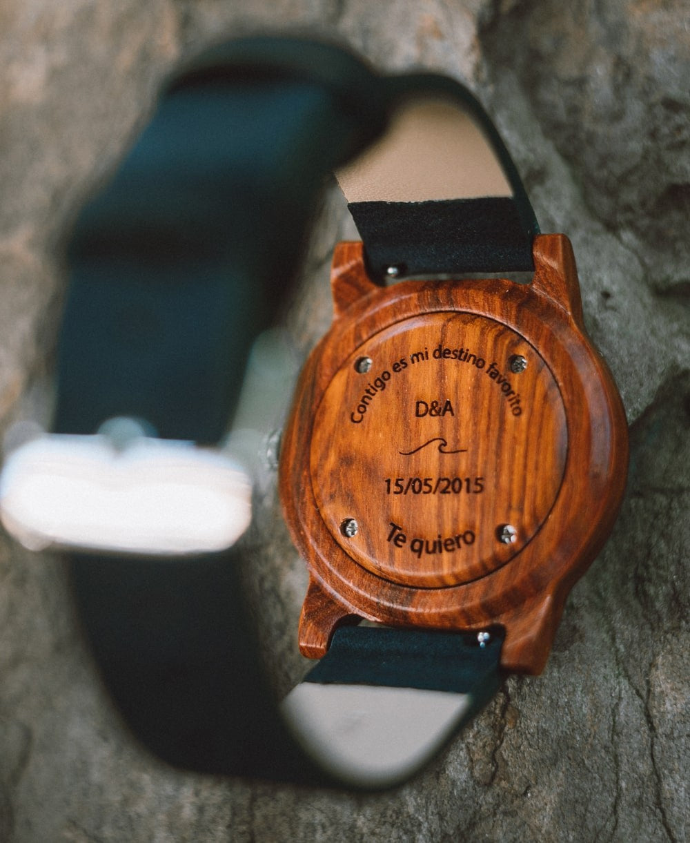 Reloj de madera Black Sonder BlueBerry 40 mm