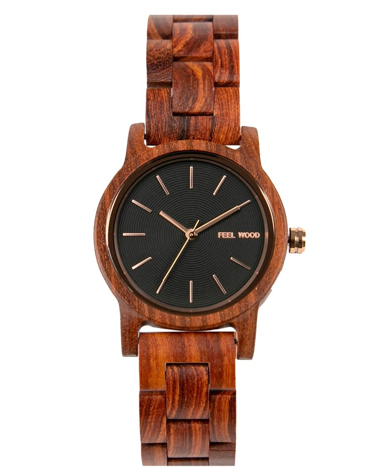 Reloj de madera Black Sulit Wood 36 mm