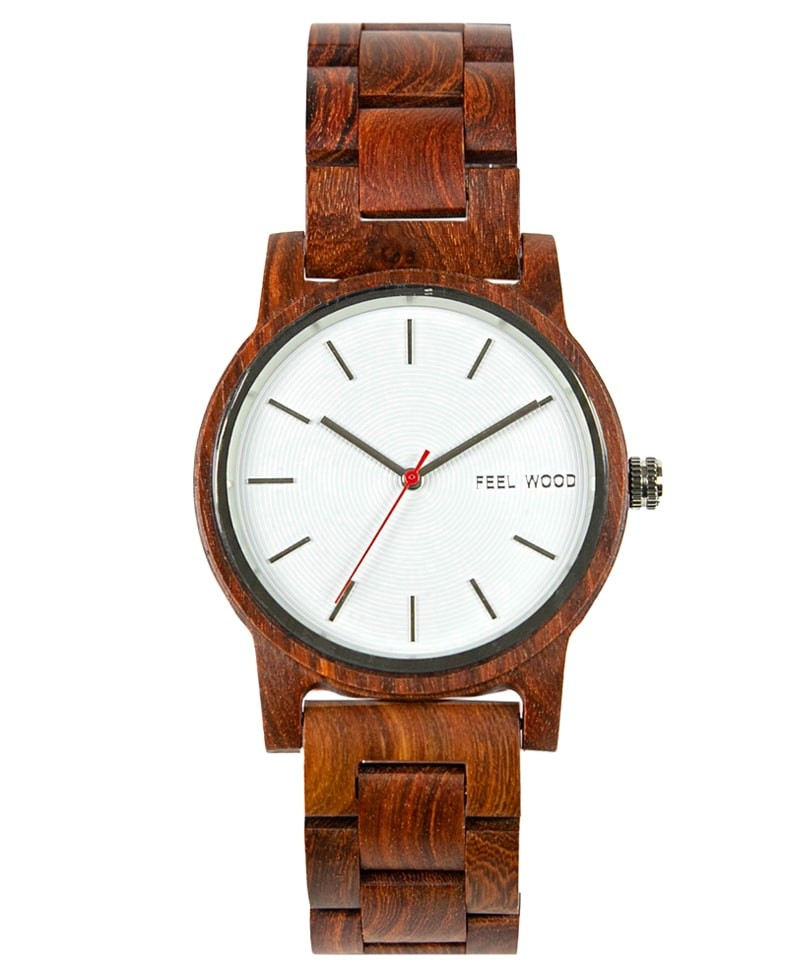 Reloj de madera White Sonder Wood 40 mm
