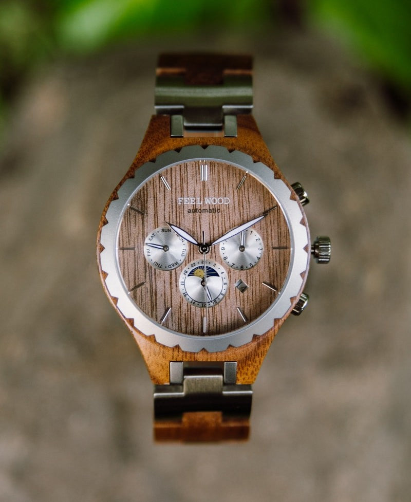 Wood Infinity Automatic Wood Watch 42 mm
