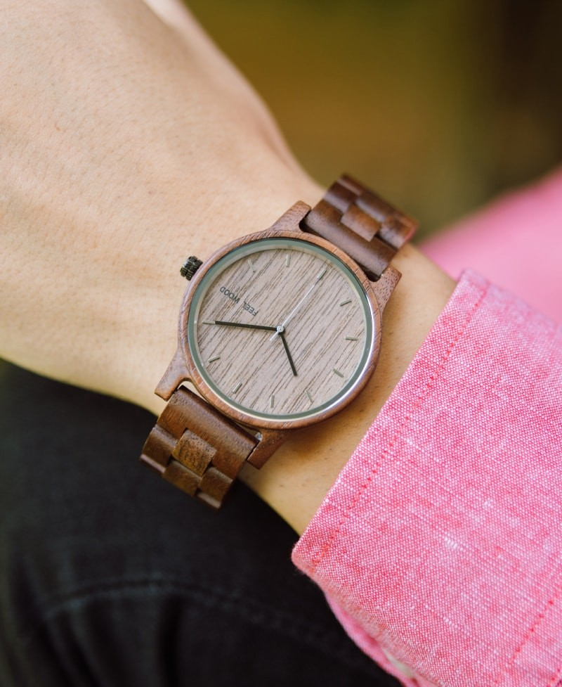 Wooden watch Dark Walnut 42 mm