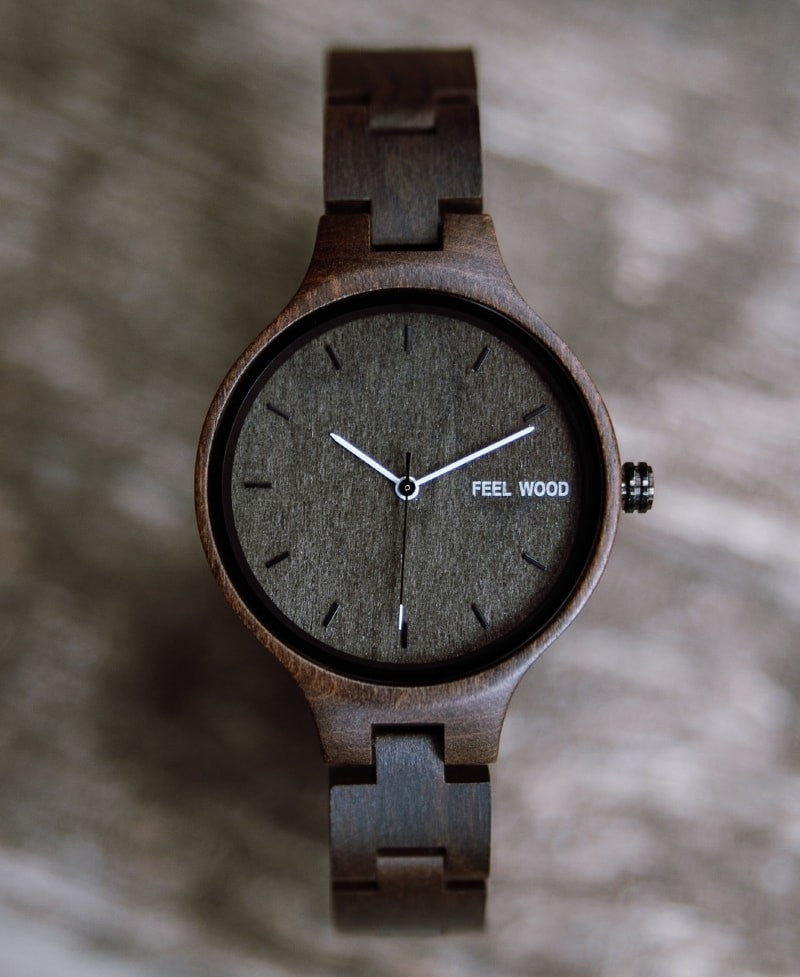 Reloj de madera Dark Wooden 36 mm