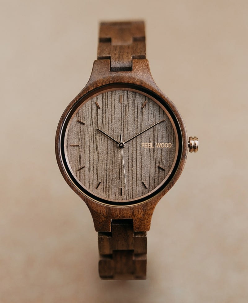 Wooden watch Rose Walnut 36 mm