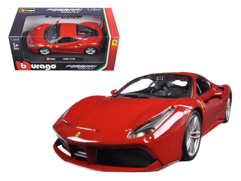 Ferrari 488 GTB - 1:24 Diecast Model Car (Red)