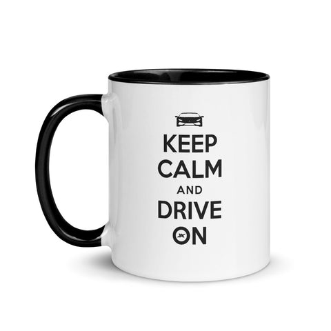 Keep Calm and Drive On Mug