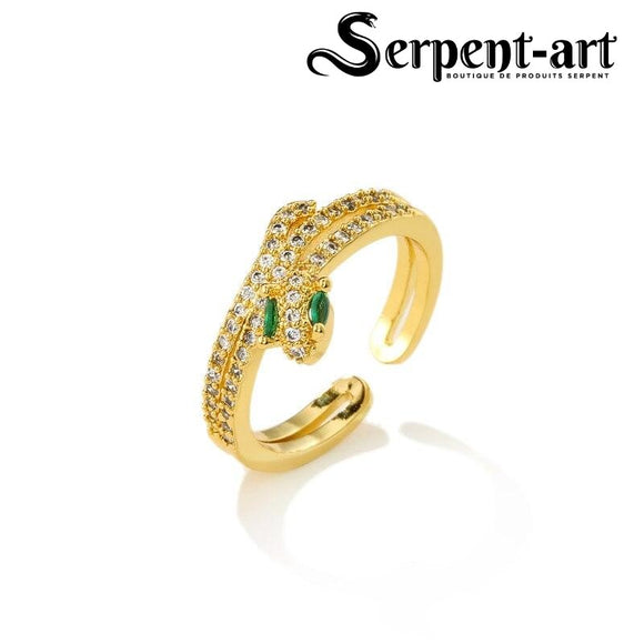 Bague serpent charme Aria