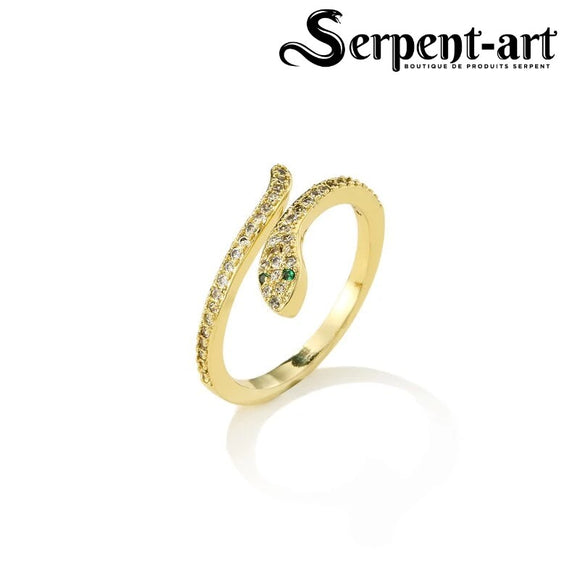 Bague serpent charme aurore