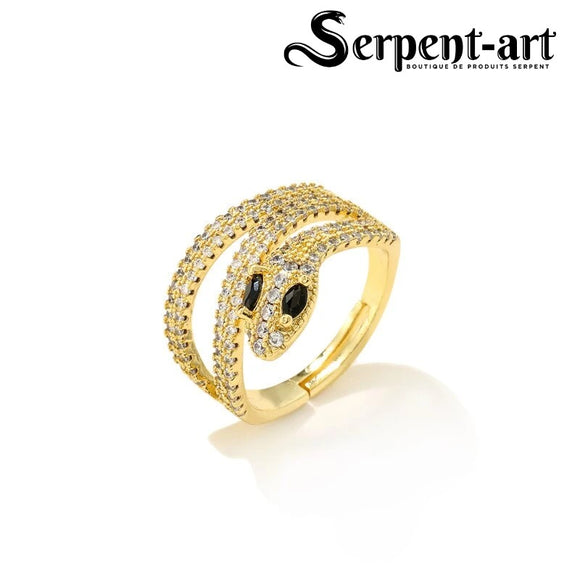 Bague serpent charme Eva