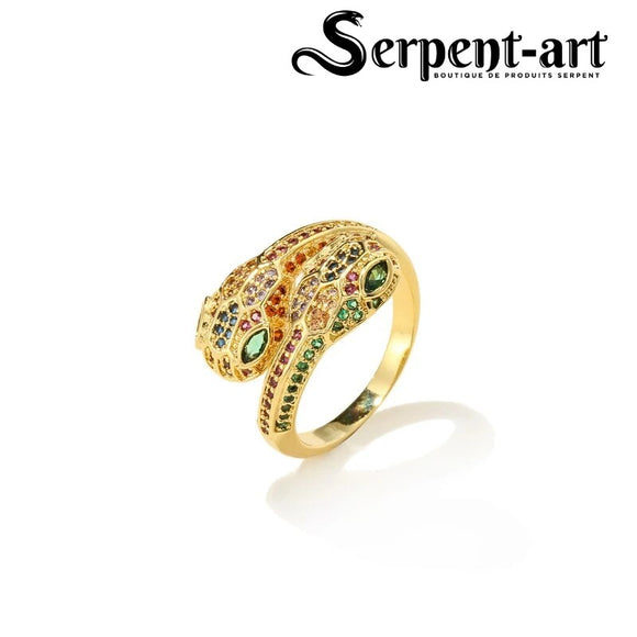 Bague serpent charme Mia