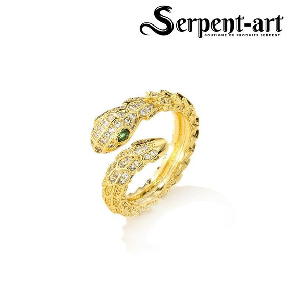 Bague serpent charme Morgane