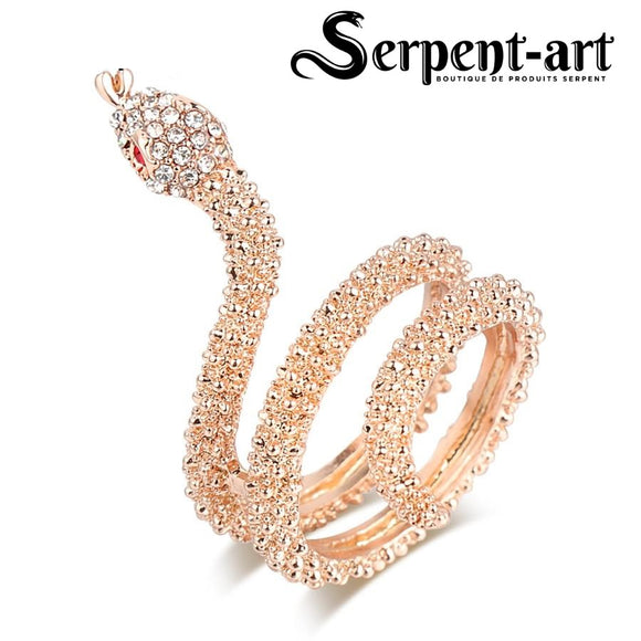 Bague serpent charme et brillants