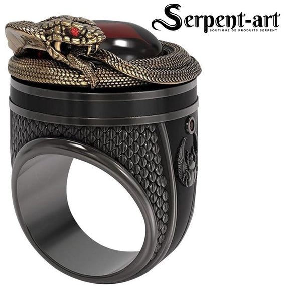 Bague Serpent cobra nordique