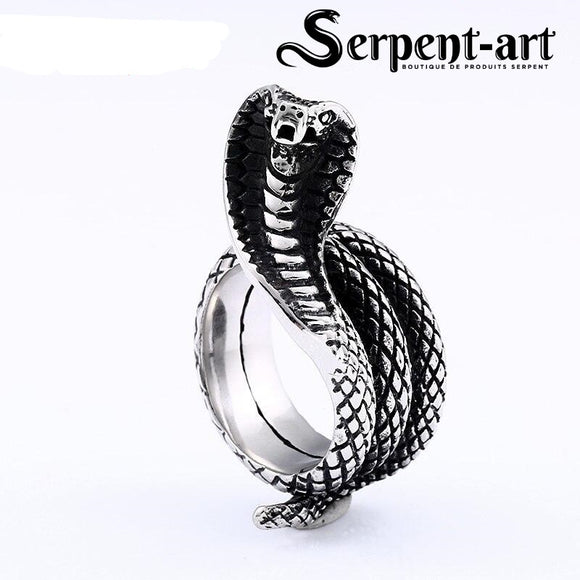 Bague serpent cobra