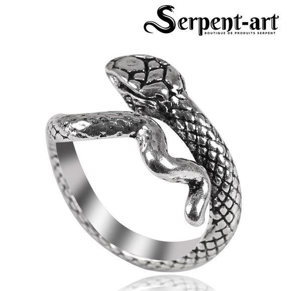 Bague serpent design