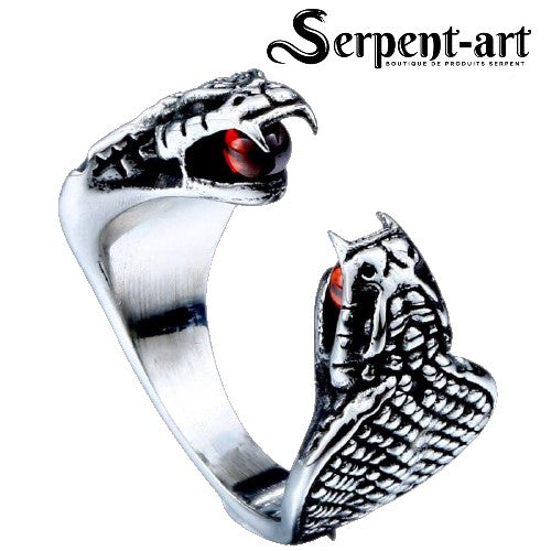 Bague Serpent double cobra